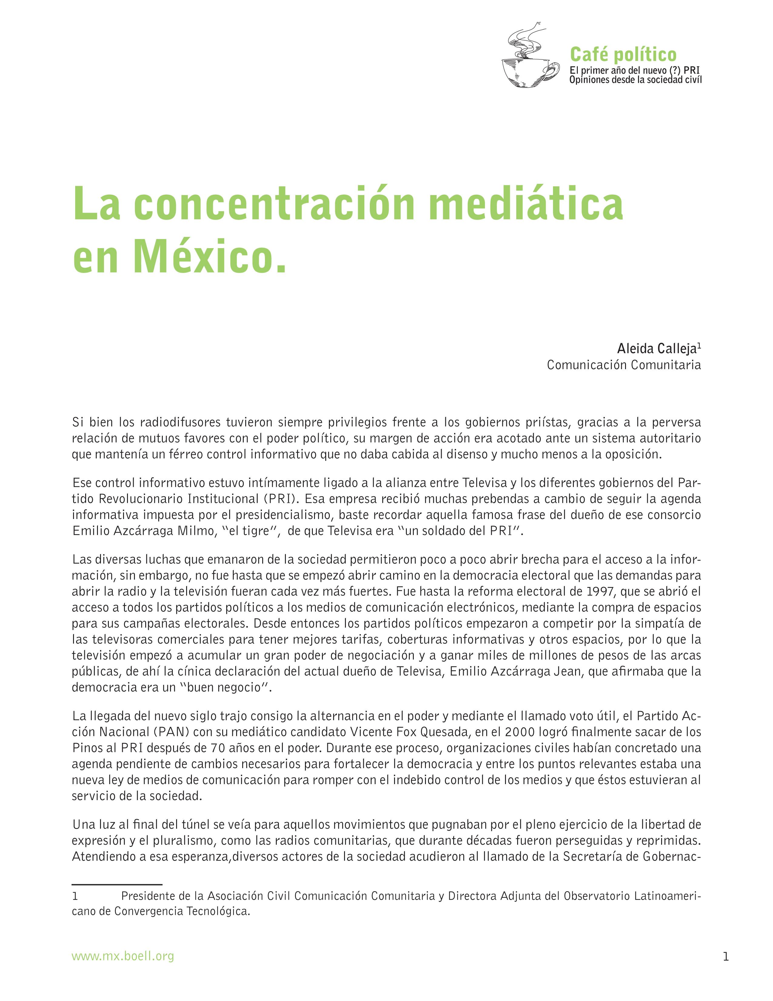 La concentración mediática en México | Heinrich-Böll